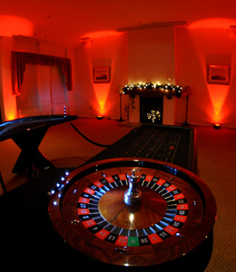 roulette table at an event in Sheffield