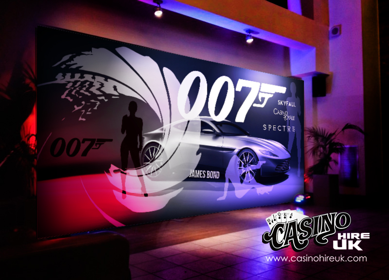 large 007 backdrop james bond