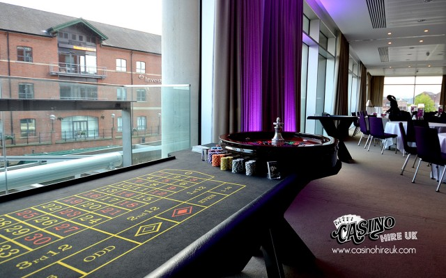 Roulette table at corporate event