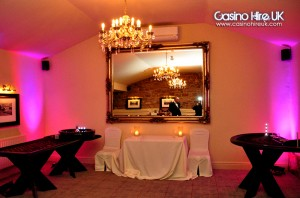 uplights for your casino party or event