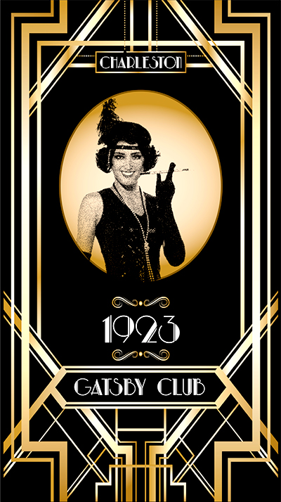 gatsby flapper girl lightbox